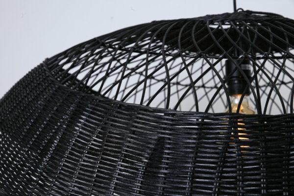 Hanglamp Ovaal 90 Zwart