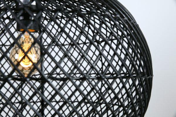 HL Snake rotan zwart (appel) 60x50