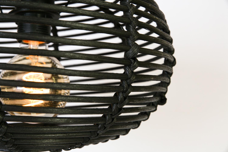 Hanglamp Rimboe 3 Lichts Zwart, Balk 130