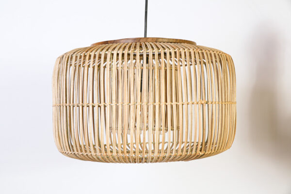 Hanglamp Tondo 40 cm Naturel met hout